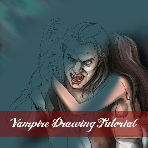 how to draw a vampire step by step