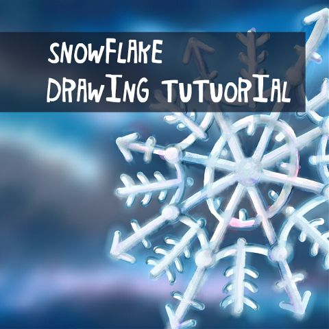 how to draw a snowflake with PicsArt