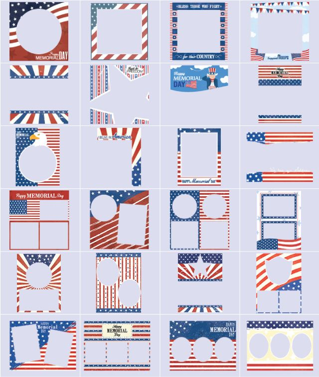 memorial day frame themes at PicsArt shop