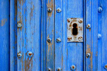 colorful photography abstract blue door