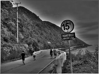 black & white bridge philippines photography road