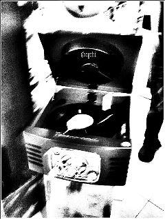 black & white interesting photography retro music