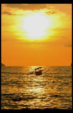 sun sunset boat philippines zambales