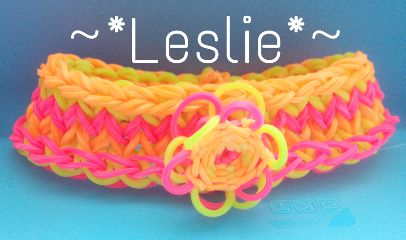 bracelet loom color splash colorful flower lesliecreation