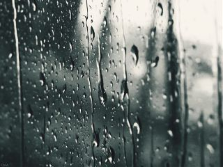 rain window black & white emotions photostory