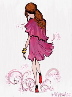 please vote dcfashionsketch artwork pink so girly