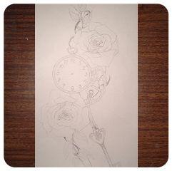 rose drawing photography dcrose blackandwhite