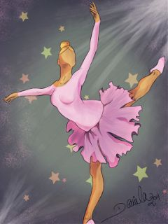 dress ballet pink drawing digital