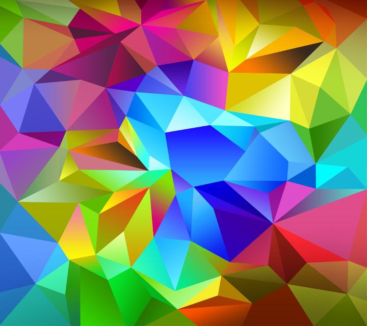 Samsung Galaxy S4 wallpaper. #colorful  #hexagons.