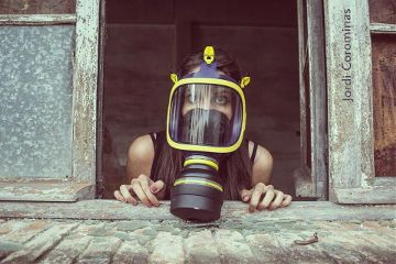 people photography mask retro emotions