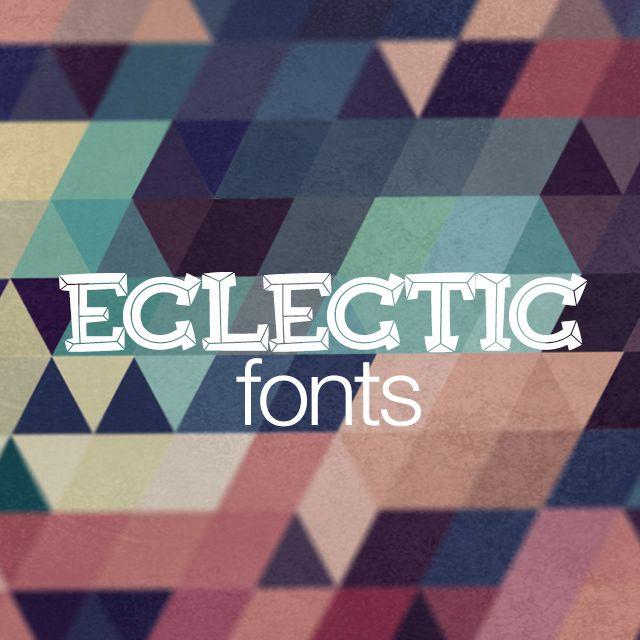 eclectic fonts