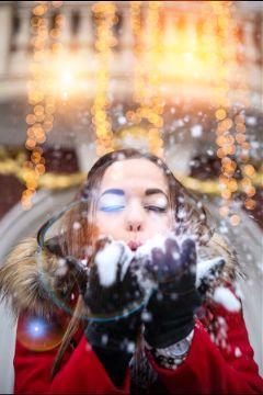 snowlady snowgirl girl snow